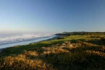 Pacific Dunes, 4th Hole, looking back
