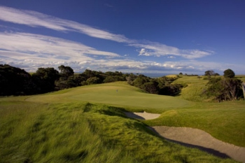 Cape Kidnappers Golf Resort, 8th Hole, looking back