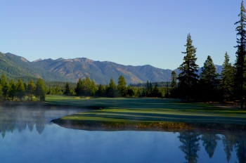 Tumble Creek, 16th hole,  tee view, morning