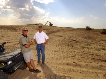 Tom Doak and Ballyneal co-founder Rupert O'Neil during construction