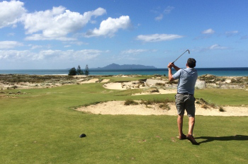 Brian Slawnik on 17th at Tara Iti Golf Club