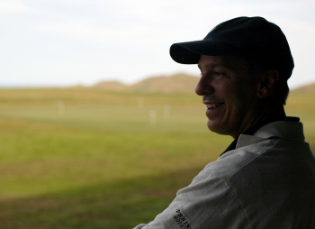 Tom Doak looks out at Cape Kidnappers